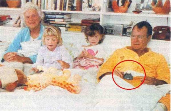 Bush Twins Illuminati Pyramid Bed